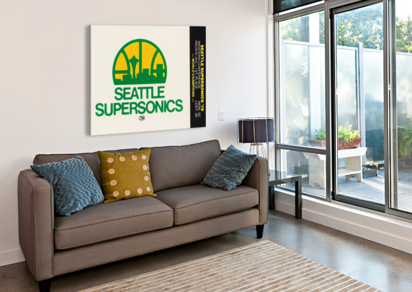 1979 SEATTLE SUPERSONICS FLEER DECAL ROW ONE BRAND  Canvas Print