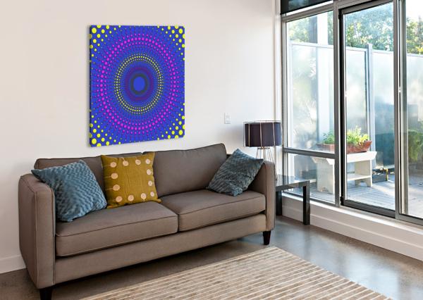 36X36DOTSAROUND 7200 WM ROSS CRUM  Canvas Print
