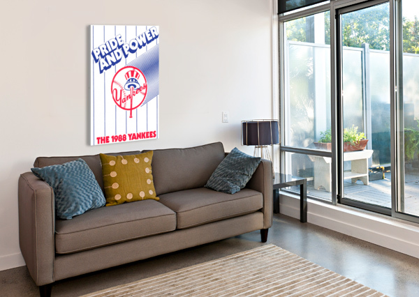 1988 NEW YORK YANKEES ART ROW ONE BRAND  Canvas Print