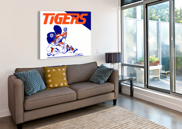 TIGERS CARTOON ROW ONE BRAND  Canvas Print