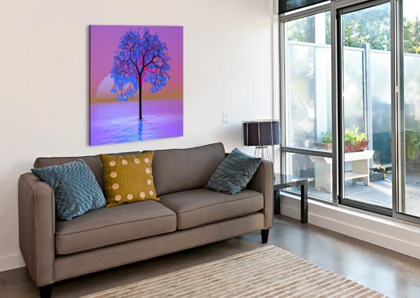TREE SUNSET MATTHEW LACEY  Canvas Print