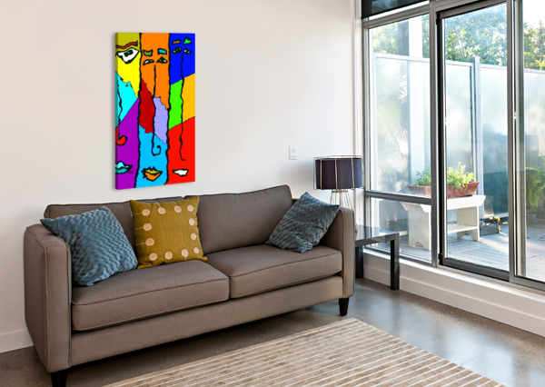THREE FRIENDS EFRAIN MONTANEZ  Canvas Print
