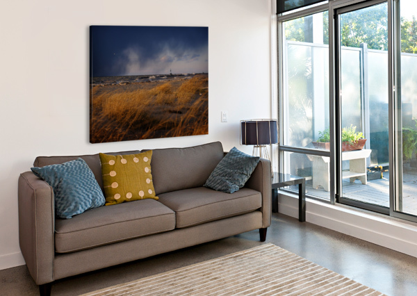 CONNEAUT LIGHTHOUSE LAKE ERIE OHIO THE FEATHER COTTAGE  Canvas Print