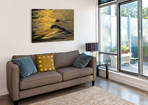 LAKE ERIE WAVES 9 THE FEATHER COTTAGE  Canvas Print