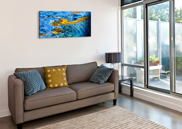 FLOWING REFLECTIONS 1 THE FEATHER COTTAGE  Canvas Print