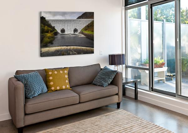 THE ELAN VALLEY DAM LEIGHTON COLLINS  Canvas Print