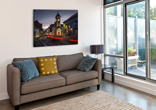 RHAYADER TOWN CLOCK TOWER LEIGHTON COLLINS  Canvas Print