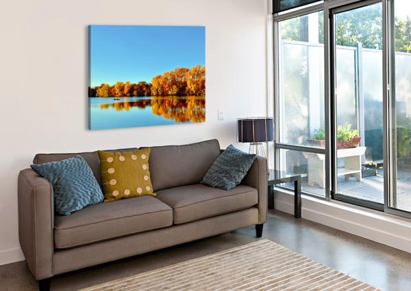 AUTUMN CANOE LISA DREW MINNEAPOLIS PHOTO ARTIST  Canvas Print