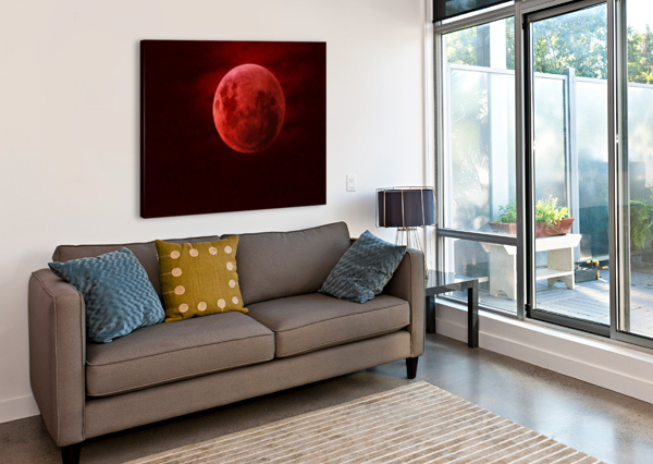 ONE RED MOON ARIZONA PHOTOS BY JYM  Canvas Print