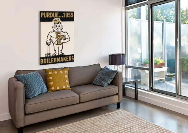 VINTAGE PURDUE BOILERMAKERS ART PRINT ROW ONE BRAND  Canvas Print