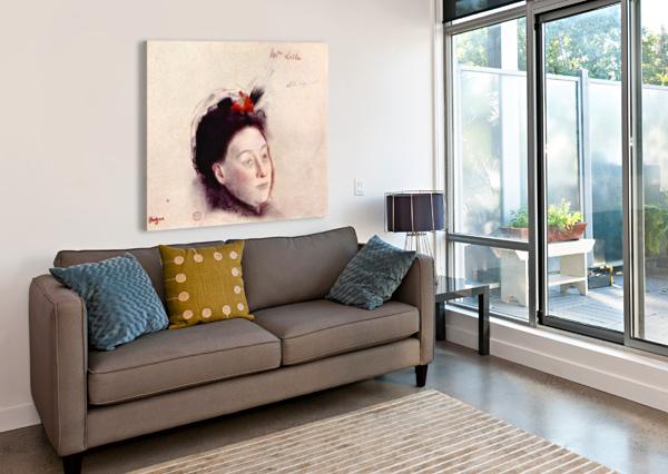 PORTRAIT OF MADAME LISLE BY DEGAS DEGAS  Canvas Print