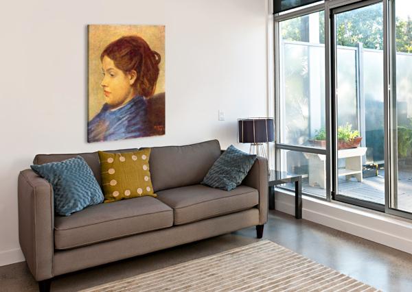PORTRAIT OF MADEMOISELLE DOBIGNY BY DEGAS DEGAS  Canvas Print