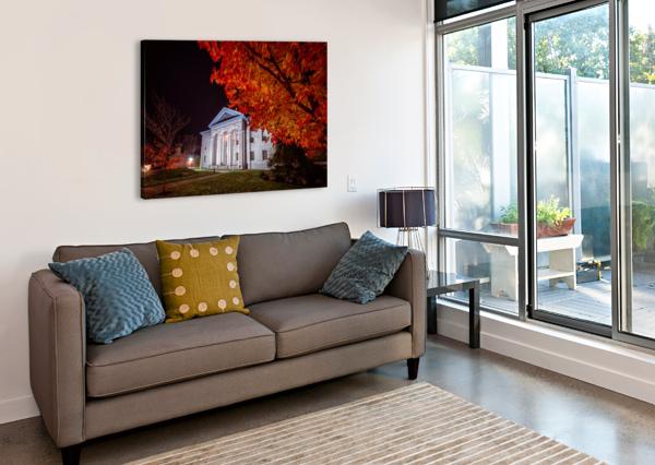 COURTHOUSE AUTUMN NIGHT DAN FLEURY  Canvas Print