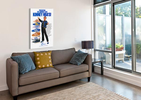 1979 KINNEY NBA SHOES AD ROW ONE BRAND  Canvas Print