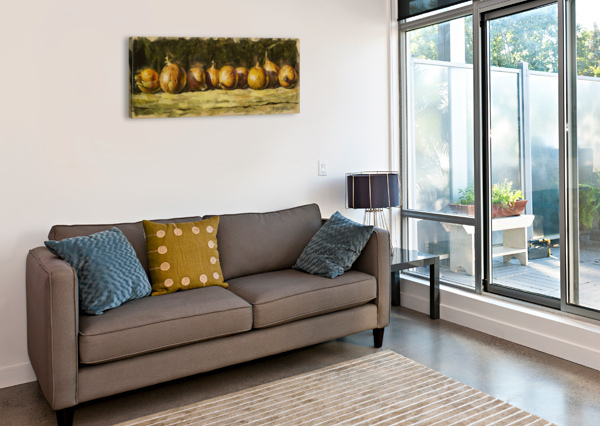 KITCHEN STILL LIFE WITH GOLDEN BOW KROPOVINSKIY  Canvas Print