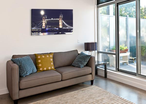 LONDON BY NIGHT BENTIVOGLIO PHOTOGRAPHY  Canvas Print
