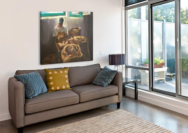 THE NUTMEG SORTER BILL GIMBEL  Canvas Print
