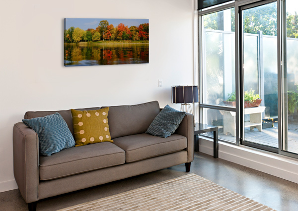 FALL IN LOVE WITH FALL CEDANSBOITE  Canvas Print