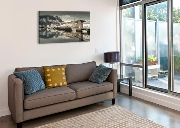 FISHING VILLAGE, LOFOTEN, NORWAY ASSAF FRANK  Canvas Print