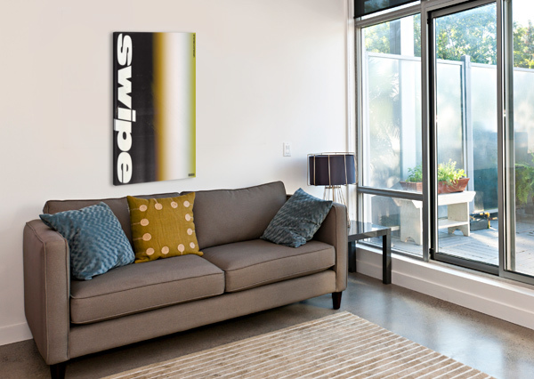 SWIPE UPHOLDVISUALS  Canvas Print