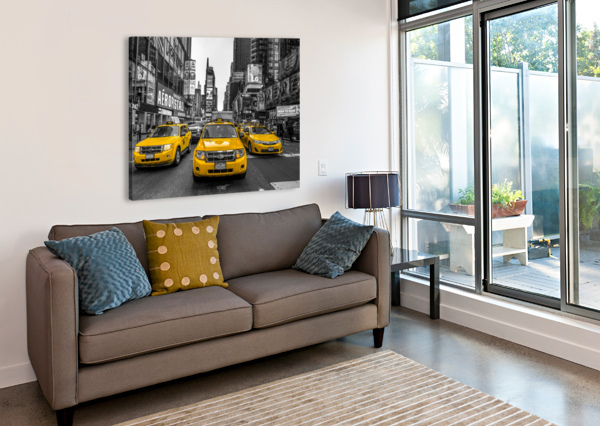 TAXI ON BROADWAY, NEW YORK ASSAF FRANK  Canvas Print