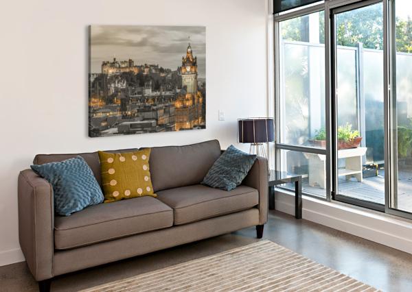 EDINBURGH CASTLE AND THE BALMORAL HOTEL, SCOTLAND ASSAF FRANK  Canvas Print