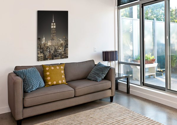 EMPIRE STATE BUILDING WITH NEW YORK CITY MANHATTAN SKYLINE WITH SKYSCRAPERS ASSAF FRANK  Canvas Print