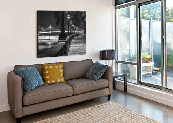 LONDON RIVERSIDE PROMENADE WITH ALBERT BRIDGE ASSAF FRANK  Canvas Print