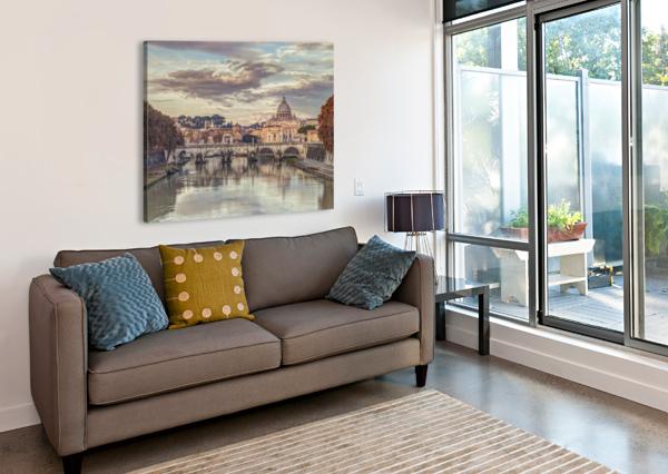 VIEW OF BASILICA DI SAN PIETRO IN VATICAN, ROME, ITALY ASSAF FRANK  Canvas Print