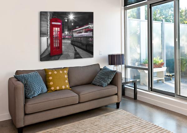 TELEPHONE BOX WITH BIG BEN, LONDON, UK ASSAF FRANK  Canvas Print