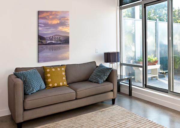 CONWY CASTLE, NORTH WALES COAST ASSAF FRANK  Canvas Print