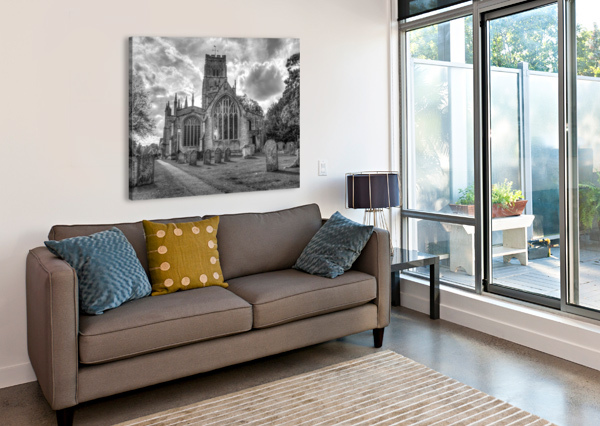 OLD CHURCH IN NORTHLEACH TOWN, COTSWOLDS, UK ASSAF FRANK  Canvas Print