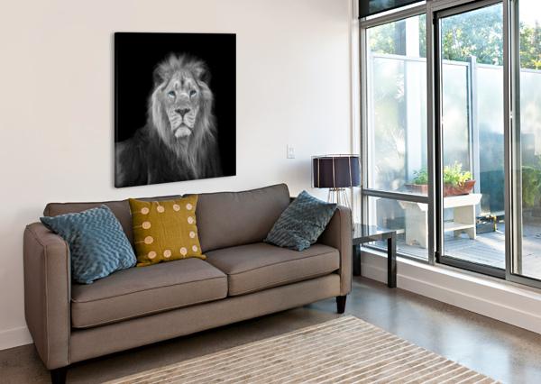 LION FACE ASSAF FRANK  Canvas Print