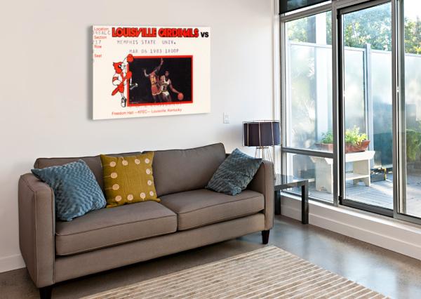 1983 MEMPHIS STATE VS. LOUISVILLE ROW ONE BRAND  Canvas Print