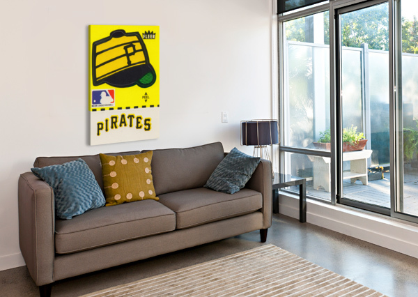 1981 PITTSBURGH PIRATE FLEER DECAL ART ROW ONE BRAND  Canvas Print