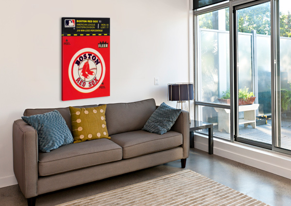 1981 BOSTON RED SOX FLEER DECAL ART ROW ONE BRAND  Canvas Print