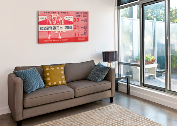 1950 MISSISSIPPI STATE VS. GEORGIA ROW ONE BRAND  Canvas Print