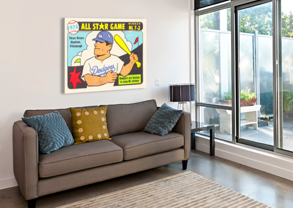1974 BASEBALL ALL-STAR GAME ROW ONE BRAND  Canvas Print