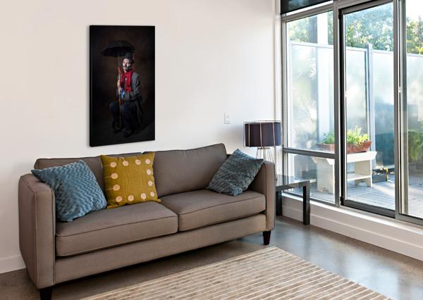 AUGUSTE ET ATTENTE DANIEL THIBAULT ARTISTE-PHOTOGRAPHE  Canvas Print