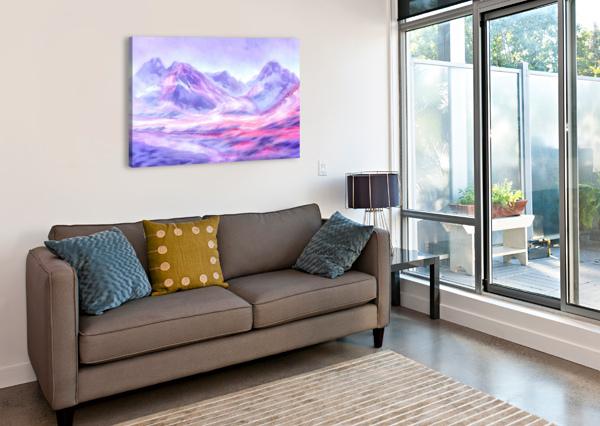 MOUNT FAIRWEATHER CANADA STEVEN SANDNER  Canvas Print