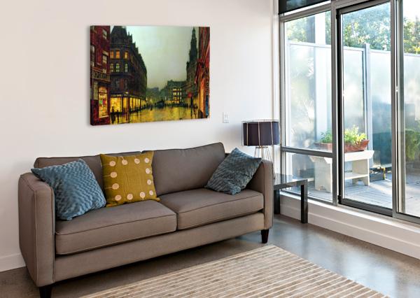 BOAR LANE, LEEDS JOHN ATKINSON GRIMSHAW  Canvas Print