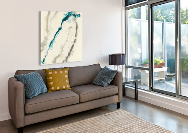 TEAL EXPRESSIONS 04 CARLA WHITE  Canvas Print