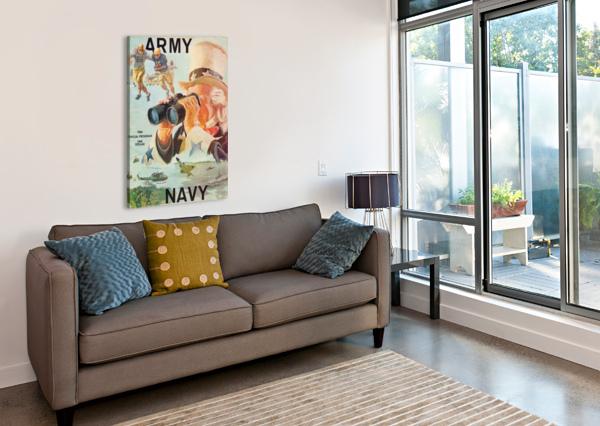 1966 ARMY VS. NAVY FOOTBALL PROGRAM ROW ONE BRAND  Canvas Print