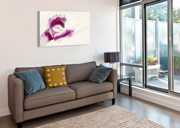 MAGENTA SUNRISE CARLA WHITE  Canvas Print