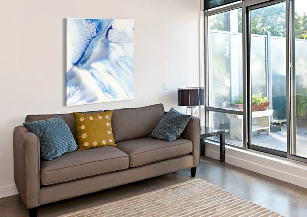 SLIP CARLA WHITE  Canvas Print