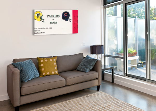 1988 GREEN BAY PACKERS VS. CHICAGO ROW ONE BRAND  Canvas Print