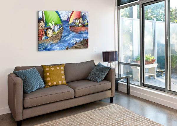 A DREAM OF SUMMER - BOATS ROBERT STANEK  Canvas Print