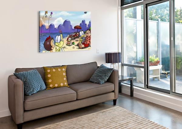 A DREAM OF SUMMER - KITES ROBERT STANEK  Canvas Print