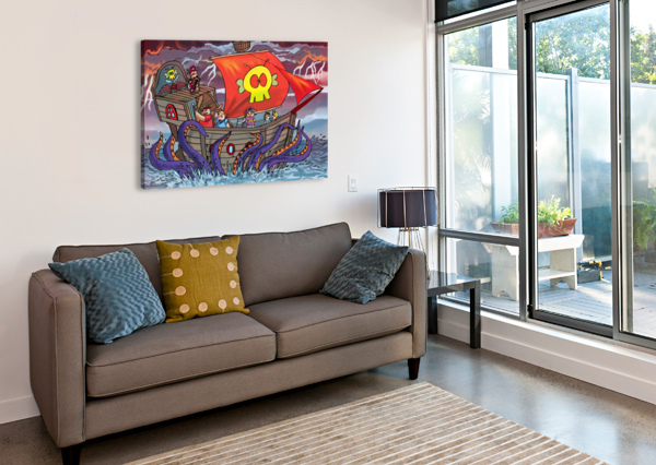 SEA MONSTER ROBERT STANEK  Canvas Print