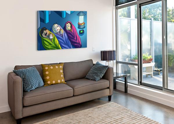 STAYING IN - BEDTIME ROBERT STANEK  Canvas Print